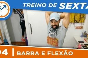 TREINO DE BARRA FIXA, FLEXÃO E CORDA EM CASA
