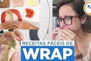2 RECEITAS FÁCEIS DE WRAP PARA LANCHES PARA ESCOLA, TRABALHO OU FACULDADE | Saúde na Rotina
